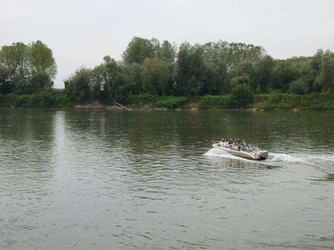 guado sigerico in barca