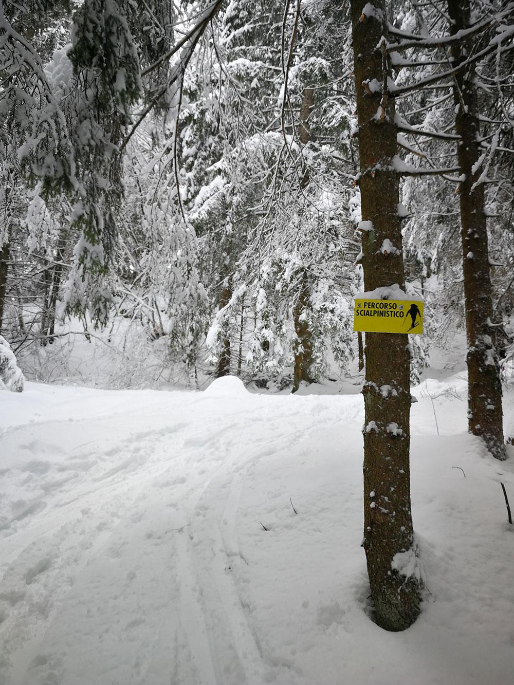 itinerario sci alpinistico borno