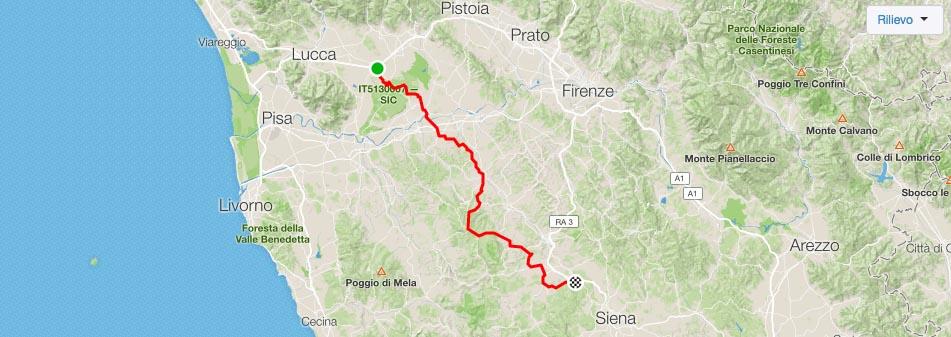 in bici a monteriggioni