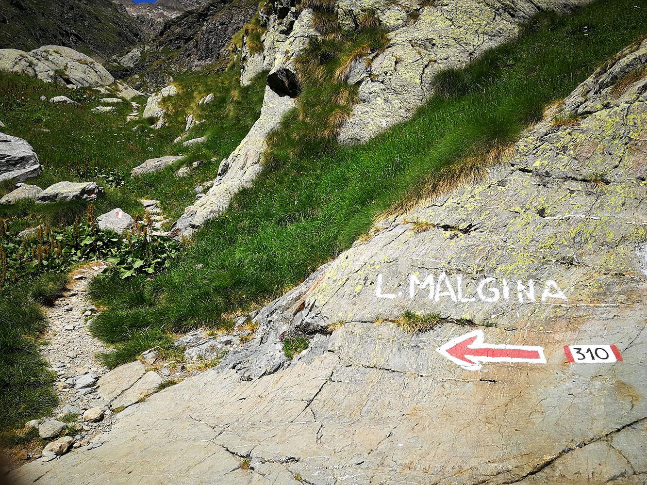sentiero lago di malgina