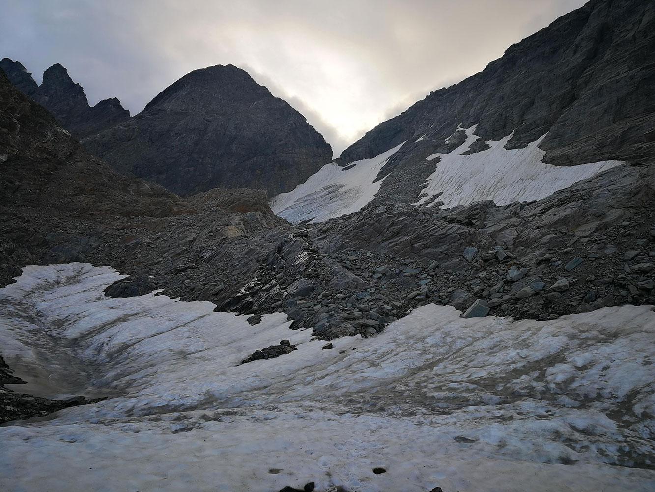 Vedretta di Scais e nevaio Redorta