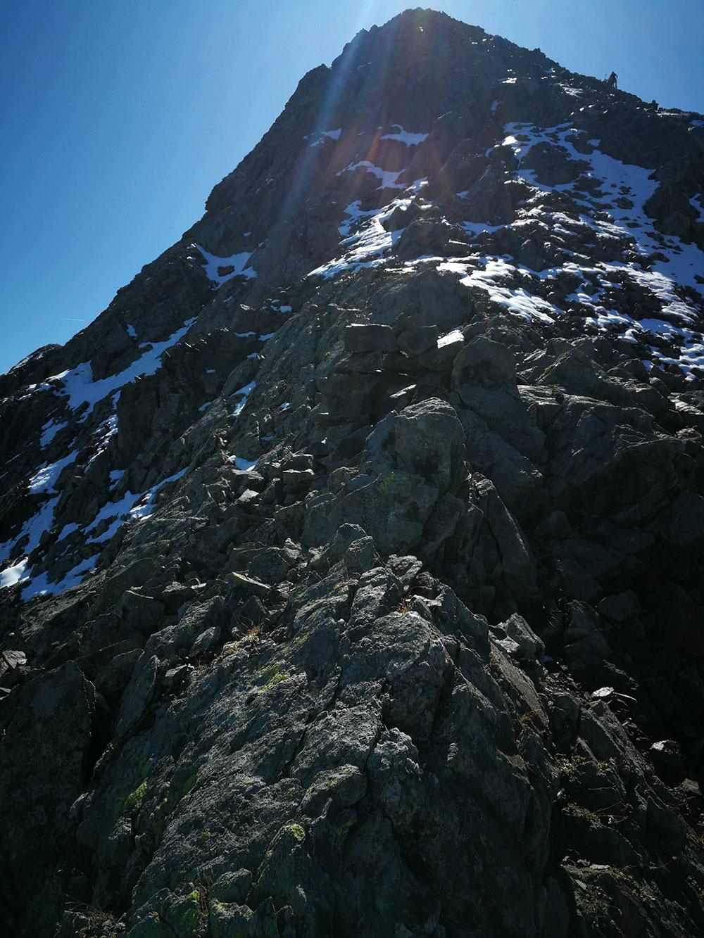 cresta anticima monte torena