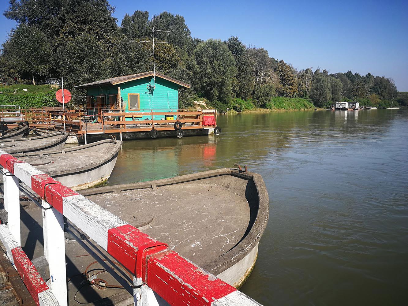 ponte di barche fiume oglio