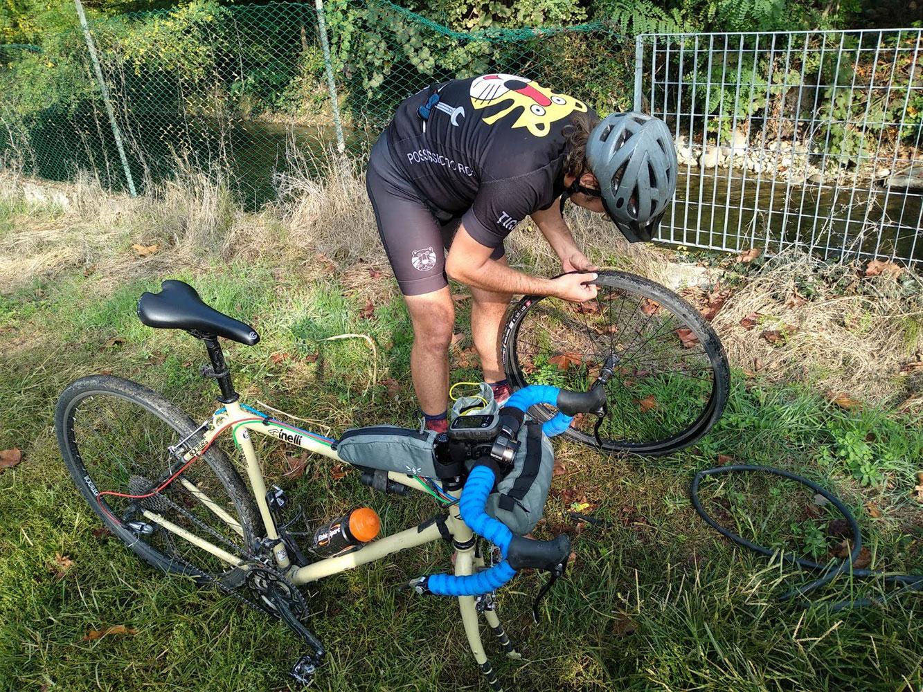 tiger bike club flat tire