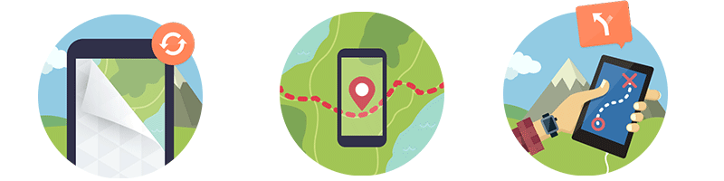 komoot app per avventure