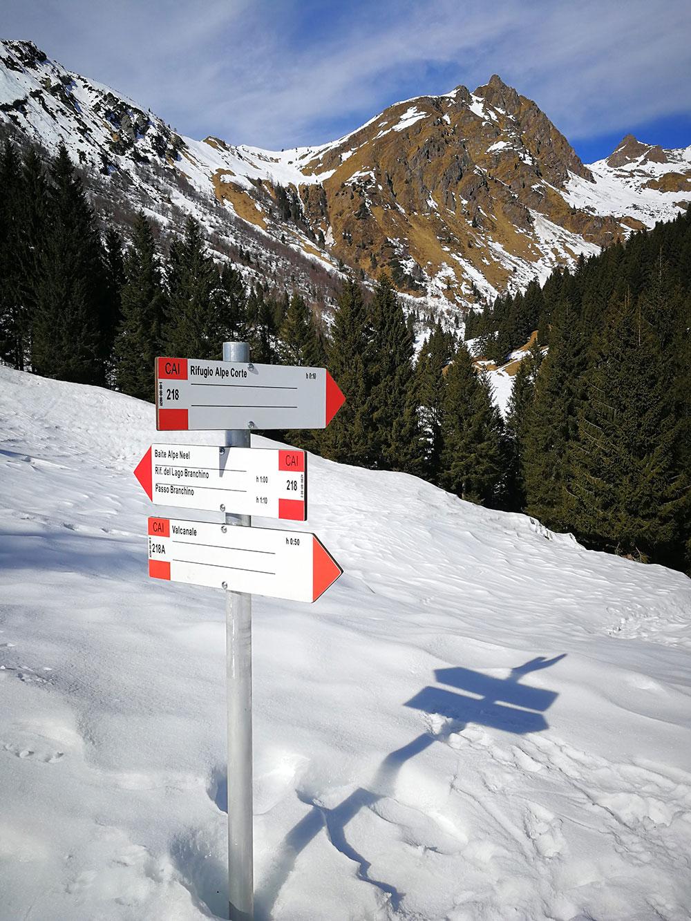indicazioni per rifugio alpe corte