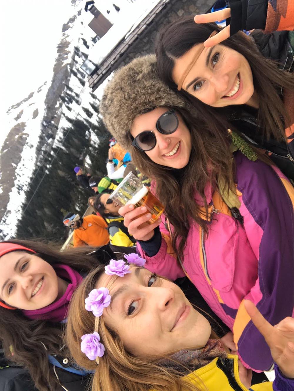 ski trash girl power