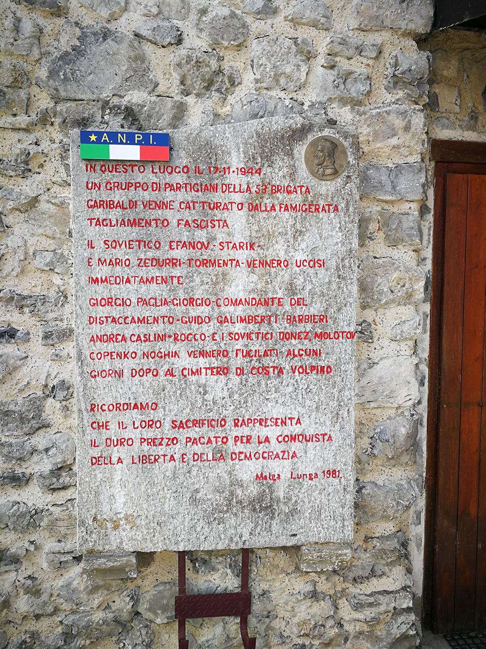 rifugio malga lunga resistenza antifascista