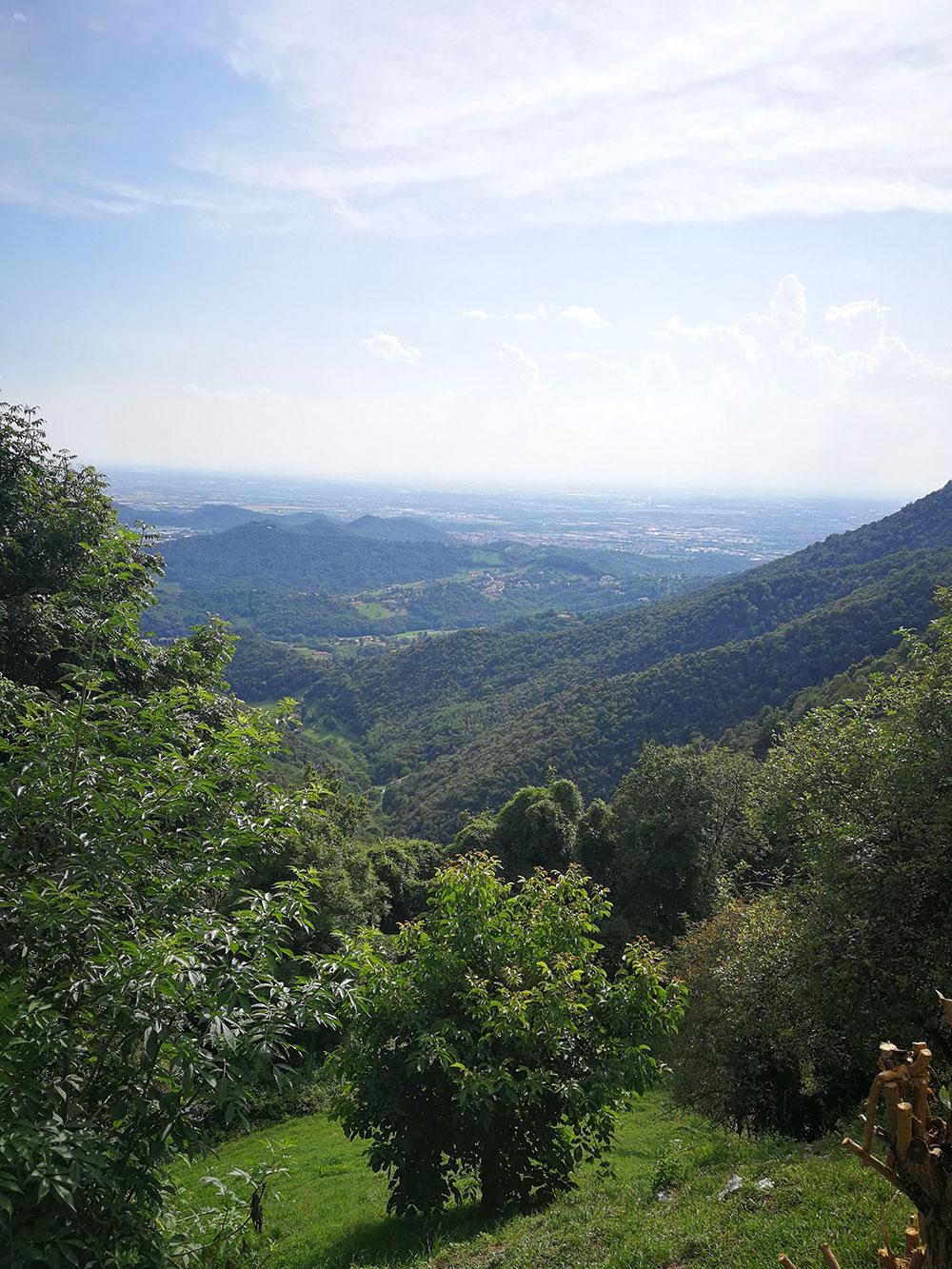 panorama da chiesa degli alpini