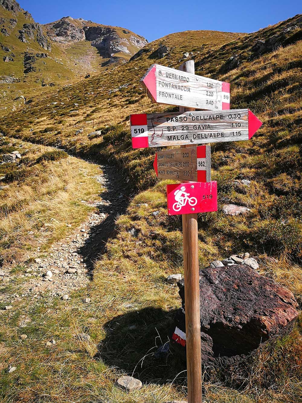indicazioni escursioni passo gavia