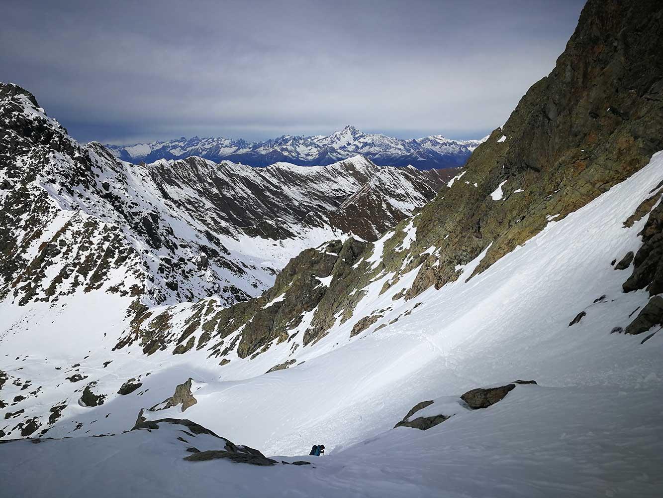 salita al monte aga invernale